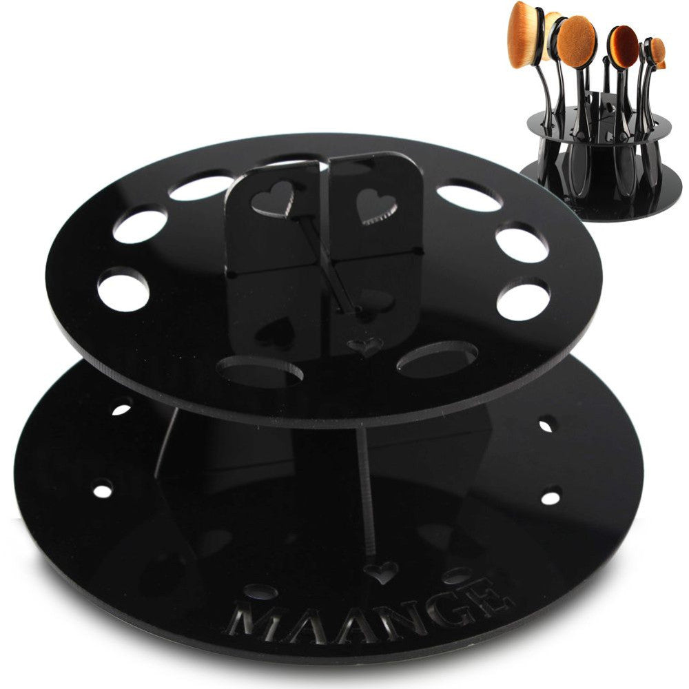 Oval Cosmetic Brush Drying Rack Organizer Virtual Glam Shop