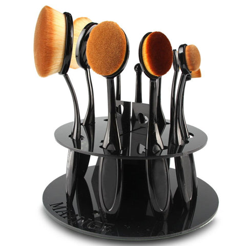 Image of Oval Cosmetic Brush Drying Rack Organizer Virtual Glam Shop
