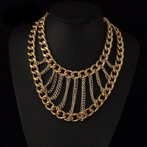 Multi Layer Chunky Chain Choker