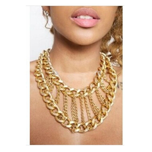 Multi Layer Chunky Chain Choker Virtual Glam Shop