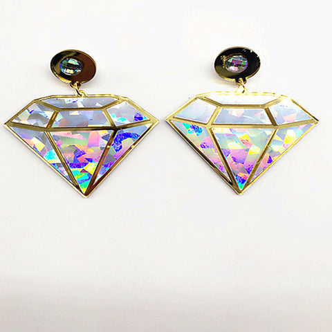 Diamond Big Drop Earrings Virtual Glam Shop