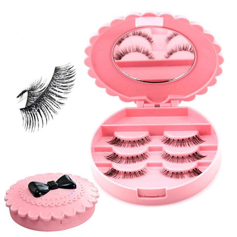 Pretty In Pink Eyelashes With Storage Box