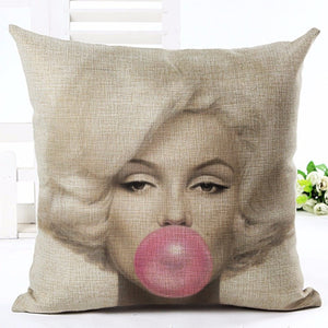 Marilyn & Dorthy Square Decorative Pillows