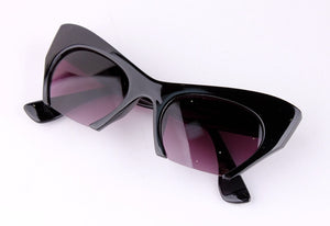 Retro Cat Eye Half Frame Sunglasses