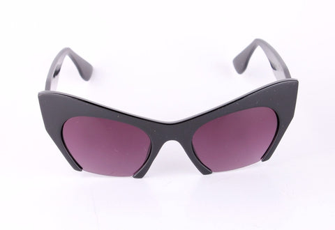Retro Cat Eye Half Frame Sunglasses Virtual Glam Shop