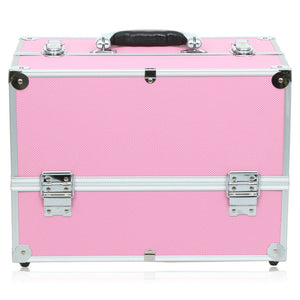 Pink Portable Cosmetic Box Pink Virtual Glam Shop