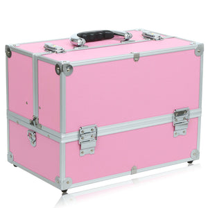 Pink Portable Cosmetic Box