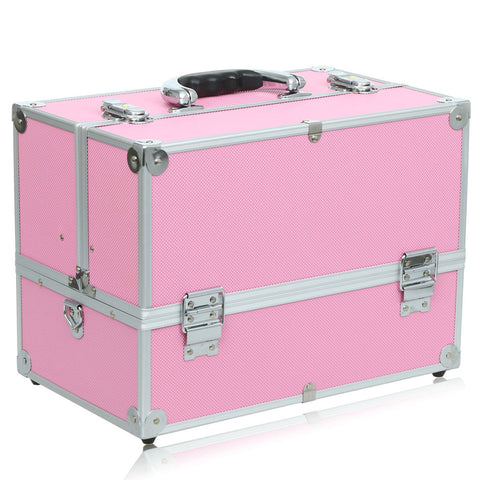 Pink Portable Cosmetic Box Virtual Glam Shop