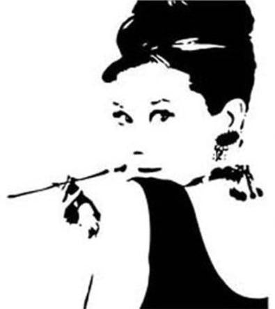 Audrey Hepburn Wall Decal Virtual Glam Shop
