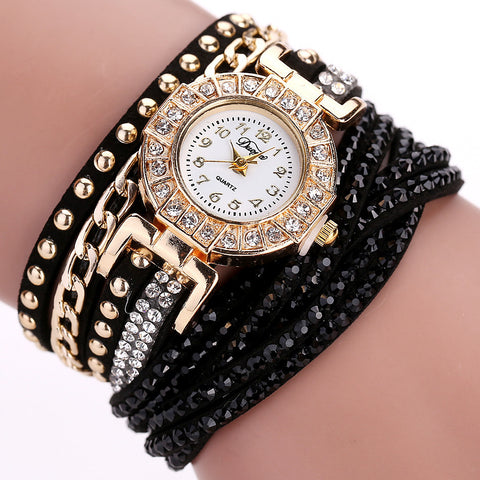 Crystal Bracelet Watch Virtual Glam Shop