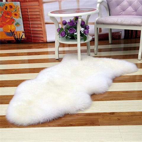 Faux Sheepskin Rug Virtual Glam Shop