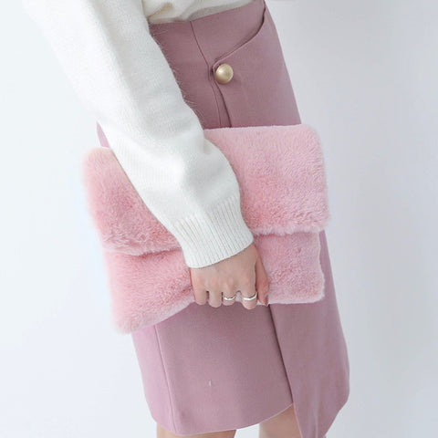 Image of Plush Fur Clutch Virtual Glam Shop
