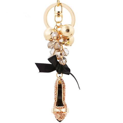 Image of High Heel Shoe Handbag Key-ring Virtual Glam Shop