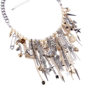 Pearls and Rock & Roll Necklace