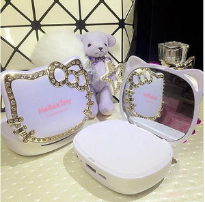 Hello Kitty Makeup Mirror Power Bank Virtual Glam Shop