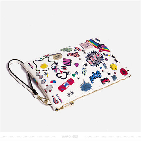 Image of Cartoon Print Clutch/Cross-body Virtual Glam Shop