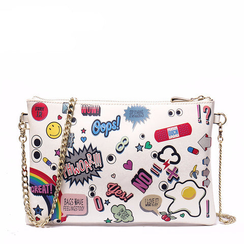 Cartoon Print Clutch/Cross-body Virtual Glam Shop