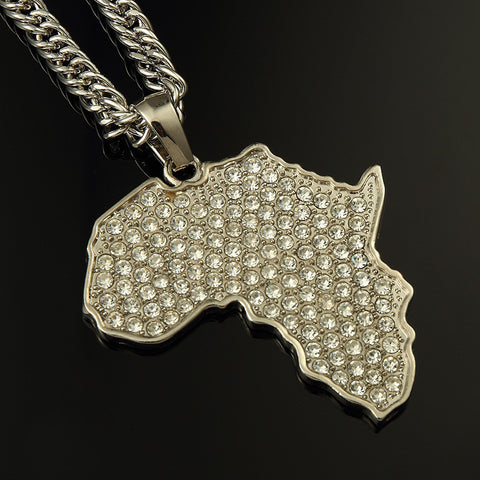 Africa Pendant Necklace Virtual Glam Shop