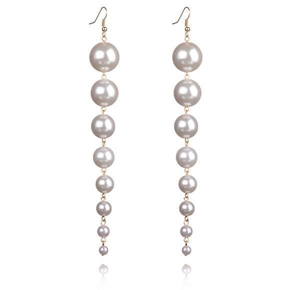 Dangle Pearls Earrings Virtual Glam Shop