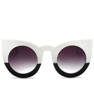 Black and White Color Block Sunglasses