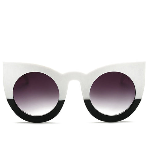 Image of Black and White Color Block Sunglasses Virtual Glam Shop
