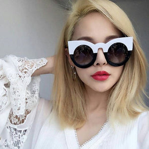 Black and White Color Block Sunglasses Virtual Glam Shop
