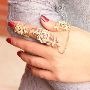 Crystal Chain Tassel Ring Virtual Glam Shop
