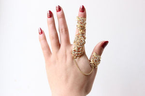 Crystal Chain Tassel Ring