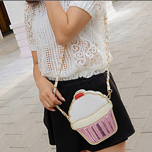 Sweet tooth Ice cream or Cupcake Clutch/Cross-body messenger bag
