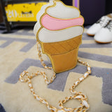 Sweet tooth Ice cream or Cupcake Clutch/Cross-body messenger bag Virtual Glam Shop