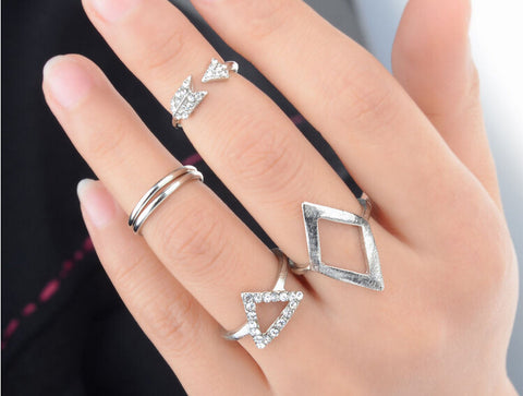 Image of 5pcs Midi Ring Set Virtual Glam Shop