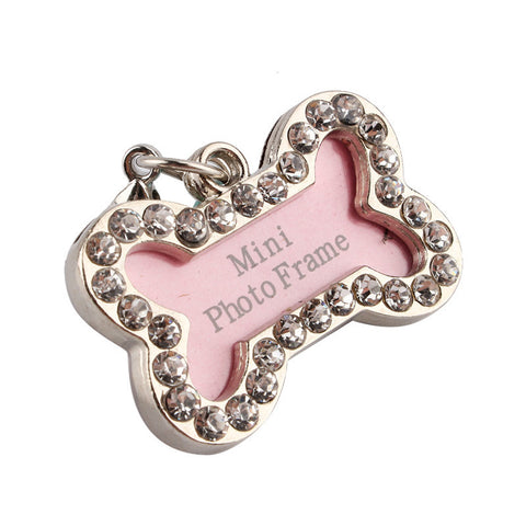 Image of Puppy Bone Bling Identification Tag Virtual Glam Shop