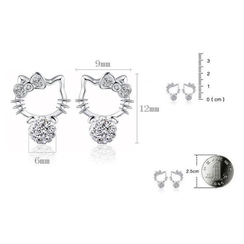 3ce4234f4 Hello Kitty Stud Bling Earrings Virtual Glam Shop. Tap to expand
