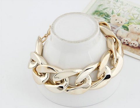 Chunky Chain Bracelet Gold Virtual Glam Shop