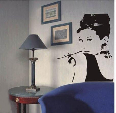 Image of Audrey Hepburn Wall Decal Virtual Glam Shop