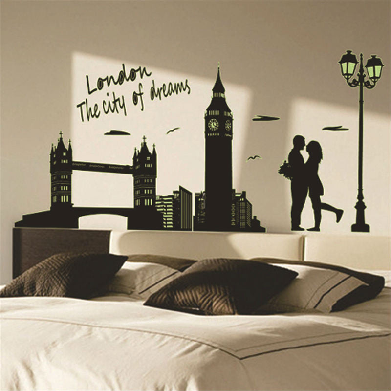 Fluorescent London Lovers Wall Decal Virtual Glam Shop