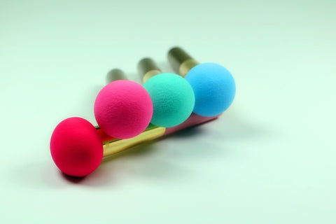 3Pcs Makeup Sponge w/handle Virtual Glam Shop