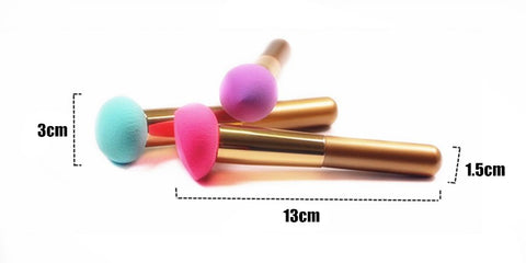 Image of 3Pcs Makeup Sponge w/handle Virtual Glam Shop