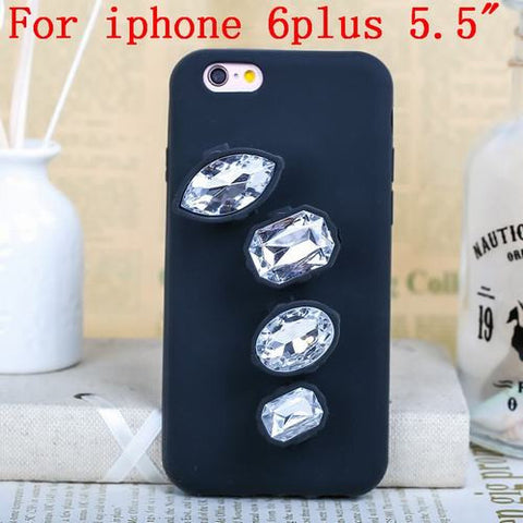 Luxury 3D Crystal Diamond Ring Phone Case Clear iphone 6plus Virtual Glam Shop