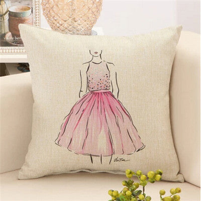 Glamour Girl Decorative Pillows 2 Virtual Glam Shop