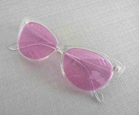 Clear Frame Cat Eye Glasses