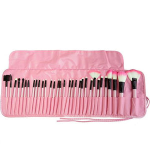 Makeup Brush Set W/Travel Pouch