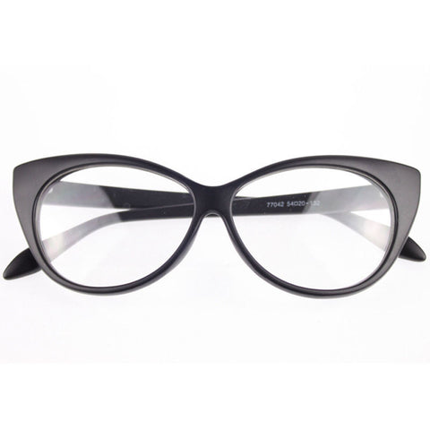 Image of Clear Cat Eye Glam Fashion Eyewear Black Virtual Glam Shop