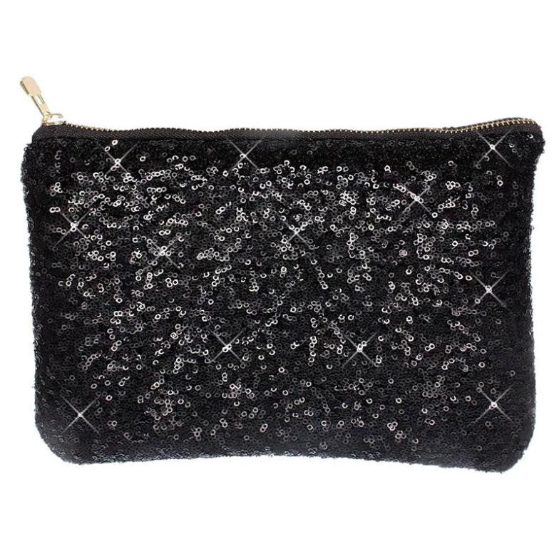 Sequin Clutch Black Virtual Glam Shop