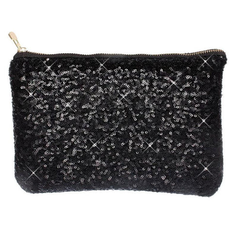 Image of Sequin Clutch Black Virtual Glam Shop