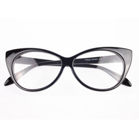 Image of Clear Cat Eye Glam Fashion Eyewear Bright Black Virtual Glam Shop