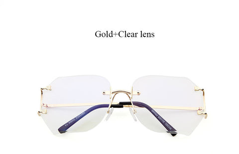 Rimless Clear Glam Fashion Specs Rimless Clear Specs Virtual Glam Shop