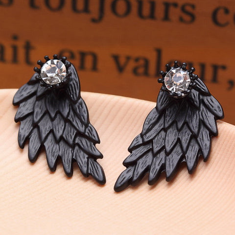 Image of Angel Wings Stud Earrings Virtual Glam Shop