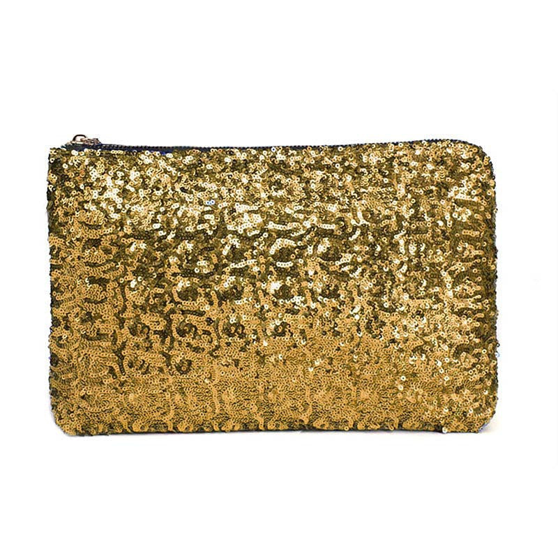 Sequin Clutch Gold Virtual Glam Shop