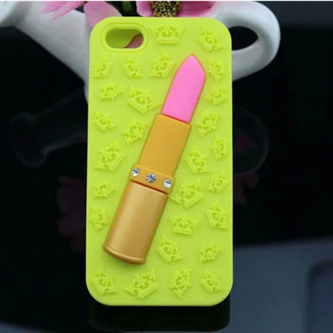 Lip Stick Phone Case Green Virtual Glam Shop